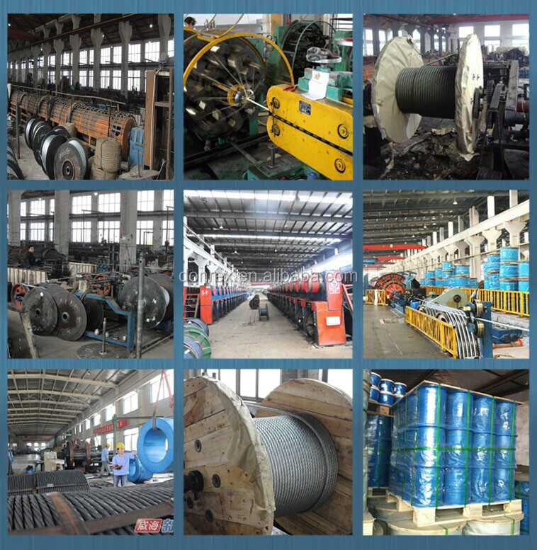 Stainless steel wire rope price from manufactory