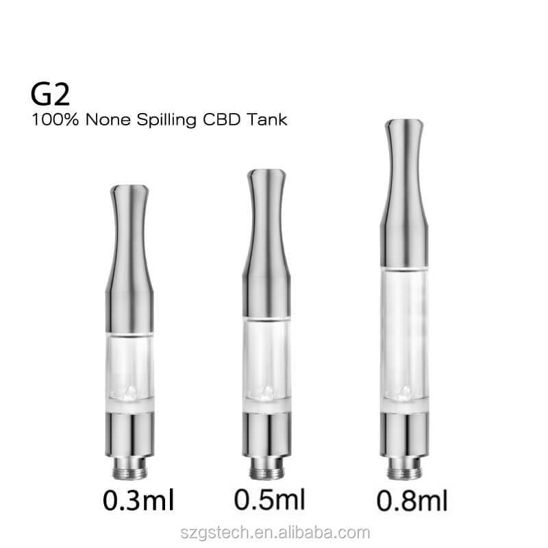 New e-cigarette vape pen ceramic coil no leak G2 tank 510 thread cbd atomizer alibaba uk com