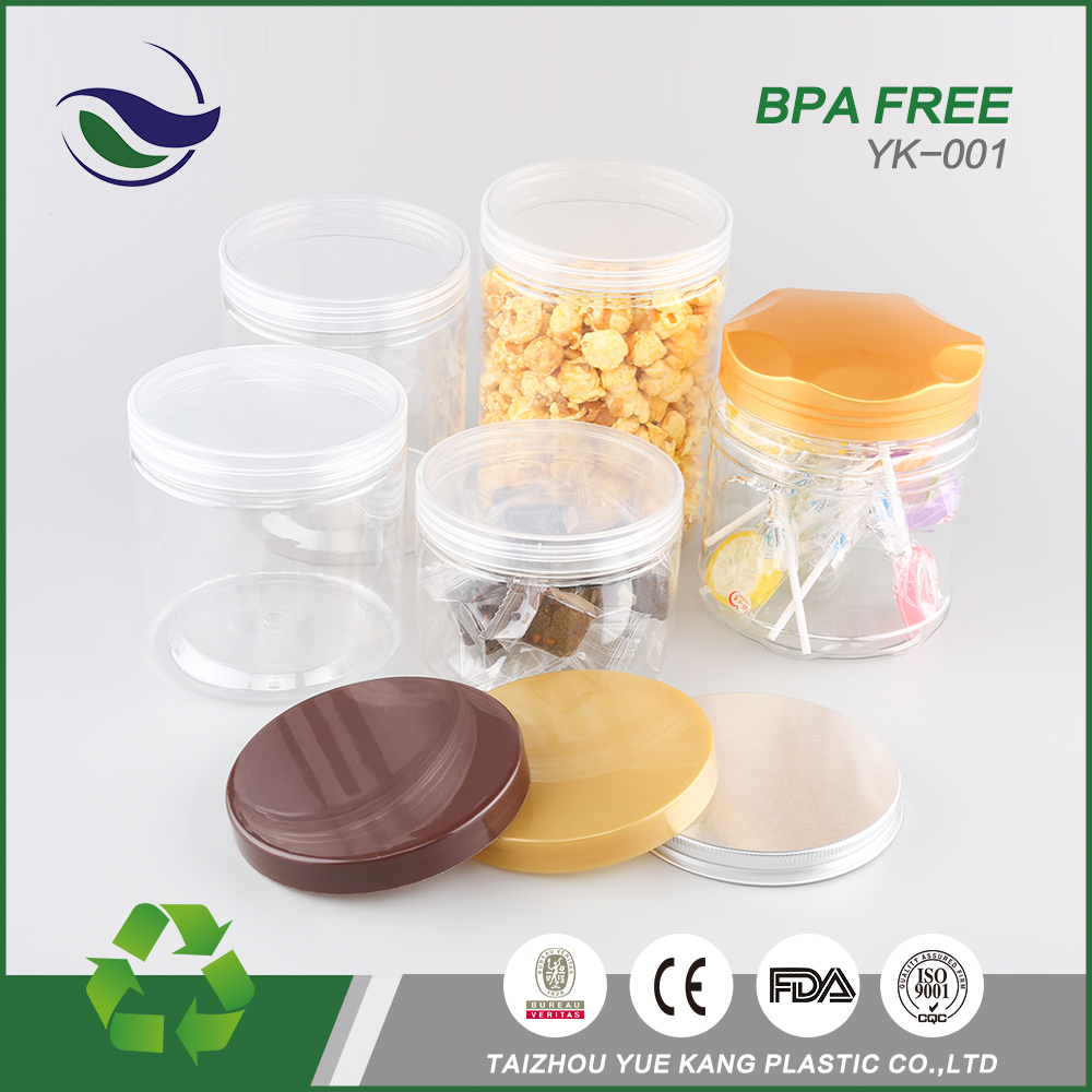 Best price quality plastic storage containers 1000ml 800ml round dry fruit cookie honey jar