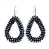 Dangle Earrings For Woman Crystal Faceted Beads Handmade Big Earring Long Pendants Hot Sale Jewelry Brincos