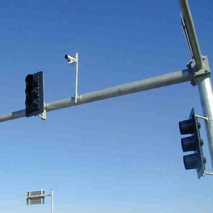 galvanized polyester or powder coated traffic signal light pole