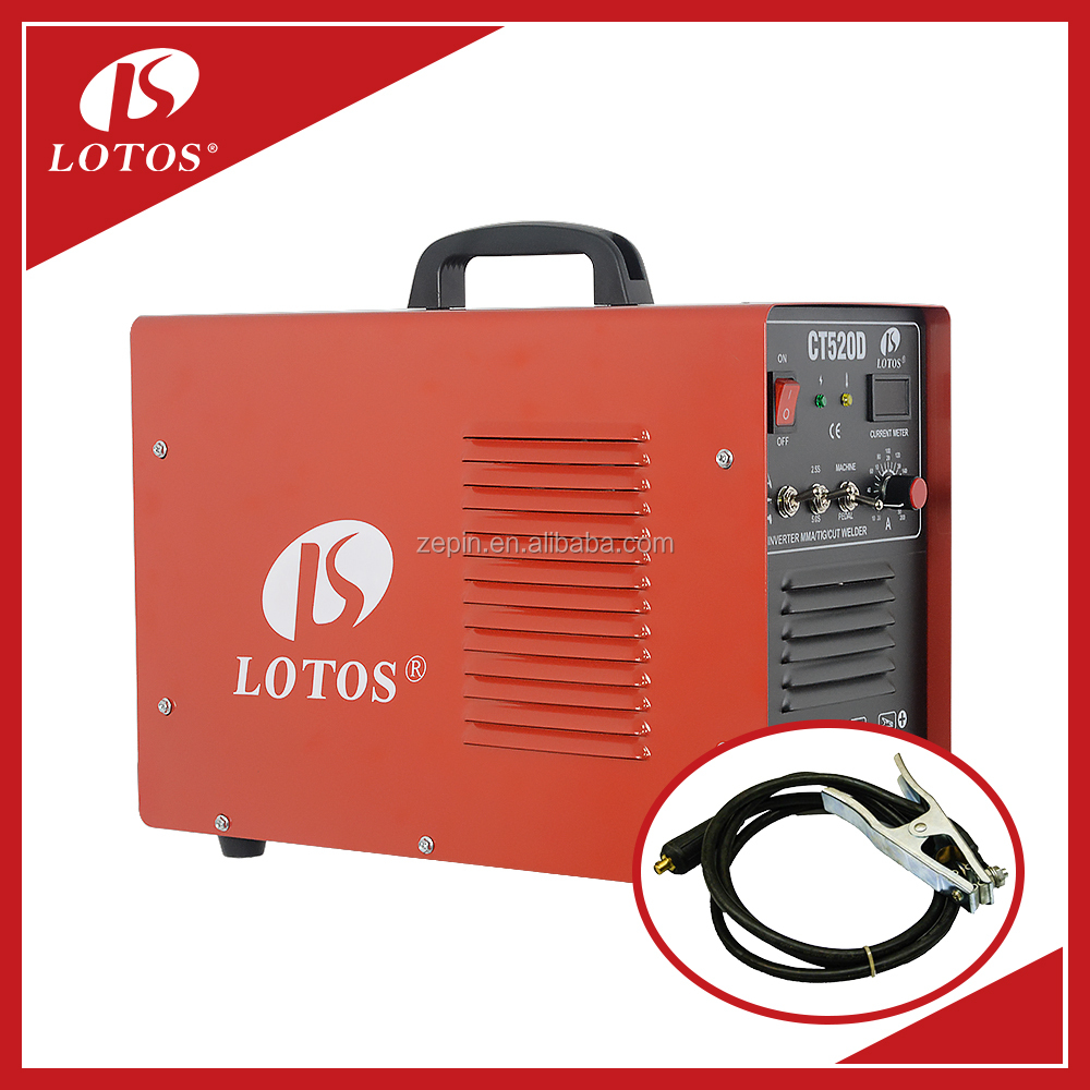 Lotos CT520D welding machinery Usage and DC Motor Type tig welding machine 200 welding