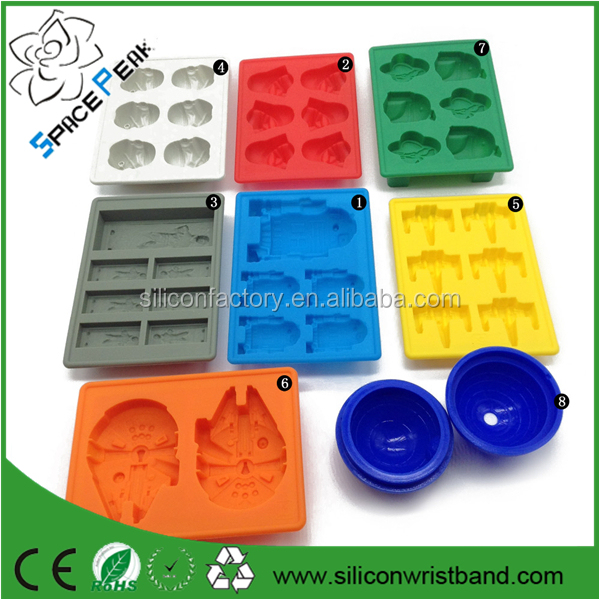 100% FDA StarWARS MOLD REUSABLE ICE CUBE TRAY SILICONE ICE MOLDS CHOCOLATE PANS lego candy mold