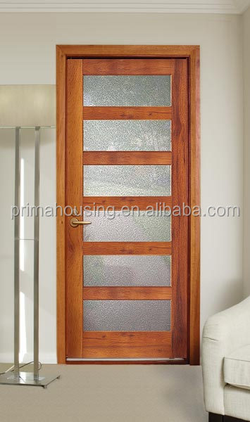 safety wooden door design for bathroom wood door supplier - Bathroom Doors Design