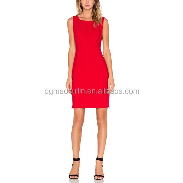 Rode dames jurk