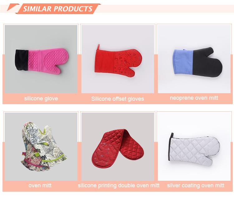 Wholesale heat resistant oven mitt cotton double oven gloves