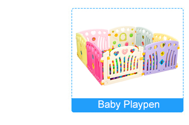 With sweety panels indoor round plastic playpen for babies