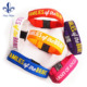 Promotional Most Popular Advertising Rubber Silicone Bracelet Customized Wristbands Festival Wristband
