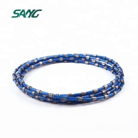 Diamond concrete cutting wire saw rope for cutting reinforced concrete granite marble quarrying