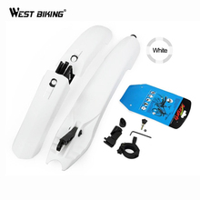 WEST BIKING Bike Fender with LED Light Front Rear Mud Guards Bike Mudguard With LED Light Plastic Mountain Bicycle Front Fender