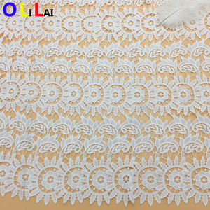 OLFPY2911 130cm wholesale swiss off white lace wedding dresses milky poly