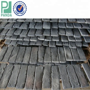 Black And White Tiles Facing Bricks Indoor Decorative Artificial Culture Stone