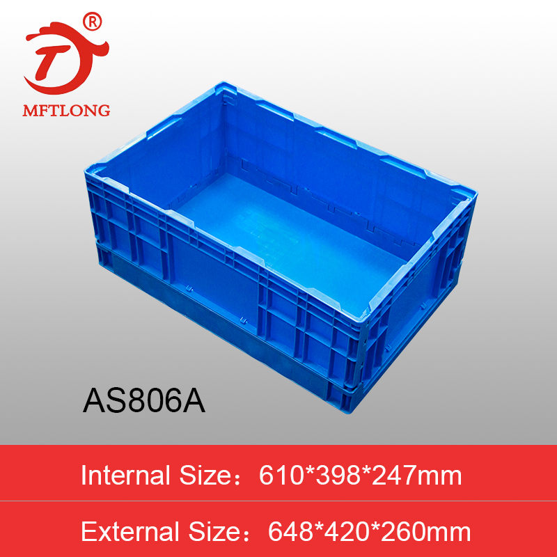 plastic foldable crate for sale factory moving box large size