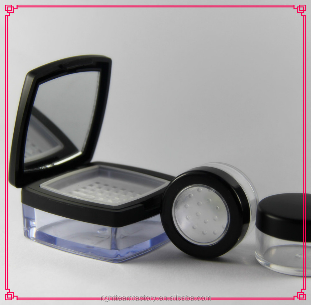 5ml 8ml square loose powder sifter jars for cosmetic