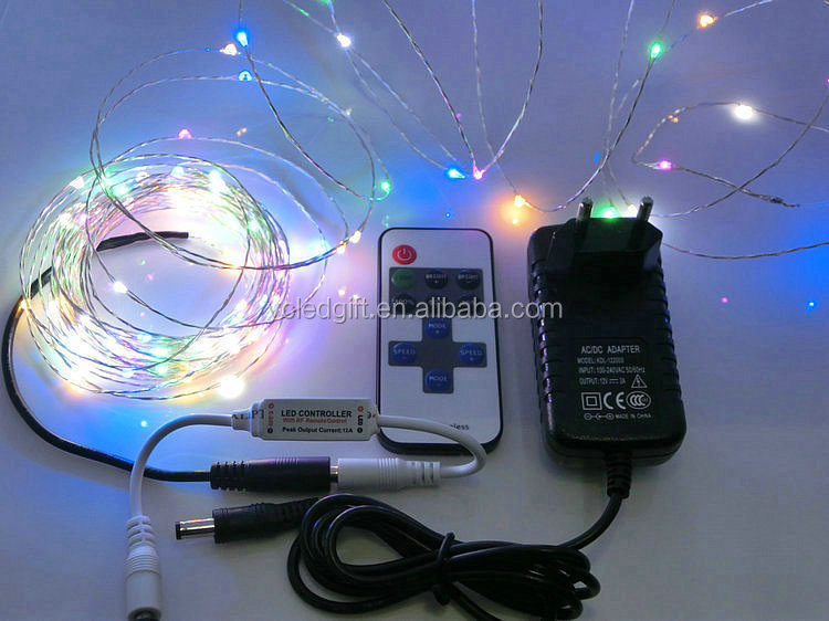 8 Colors 10m 100 Christmas Outdoor Waterproof Fairy Extendable Led ...