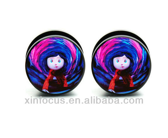 Acrylic Coraline Ear Plug Gauges Ear Plugs Jewelry Buy Coraline Ear Plug Gauges Ear Plugs Ear Plugs Jewelry Product On Alibaba Com