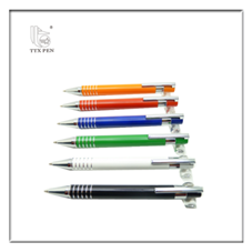 Metal business slim ballpen promotional click action cheap metal ballpen aluminium ball pen