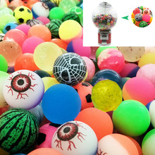 32mm mixed colorful hollow paint rubber ball bouncing balls toys capsule