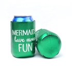 Wholesale new style Luminous fabrics Neoprene or foam bottle grass blank beer can holder cooler