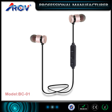 Customize logo christmas gift products magnetic wireless bluetooth headphone for MP3,MP4