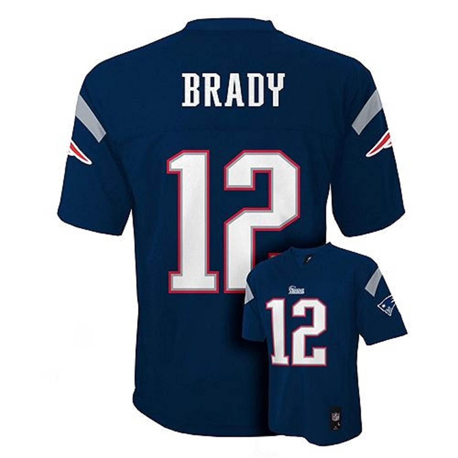 Get Quotations · Tom Brady New England Patriots NFL Youth Navy Home  Mid-Tier Jersey (Size X e0cfa135d