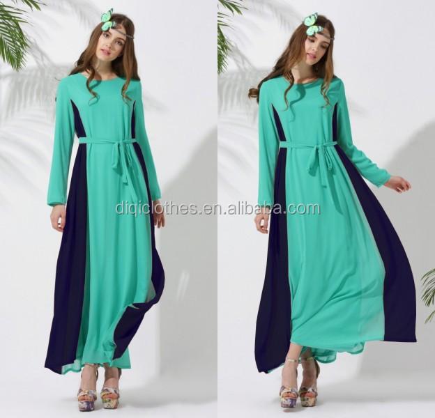 New Fashion Plus Size Elegant Pakistani Muslim Long Sleeve Chiffon ...