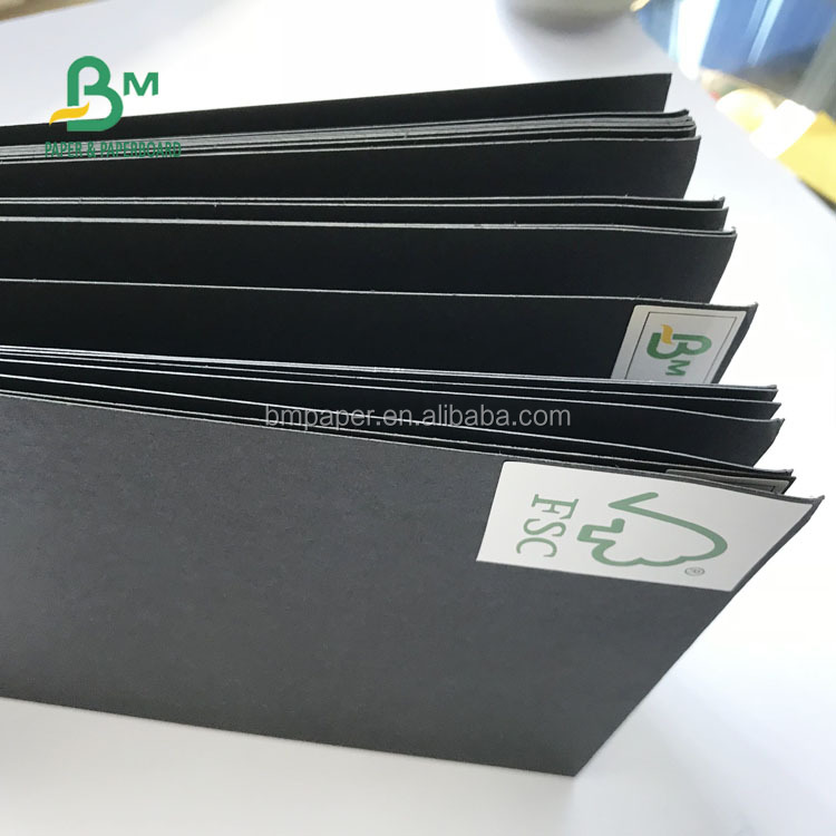 FSC 450gsm High Stiffness 2.0mm Thick Solid Coated Black Cardboard For Photo Album