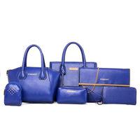 2015 New arrival women elegant bag factory six bags in one set wholesale ladies handbags online shopping totes