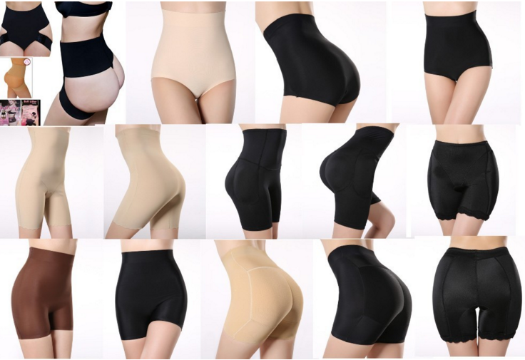High Quality High Waist Abdomen Control Women Double Breasted Slim Body Shaper Air Cushion Butt Lifter Pants