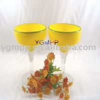 Color Glass candle holder,decorative glass candle holder,candle stand
