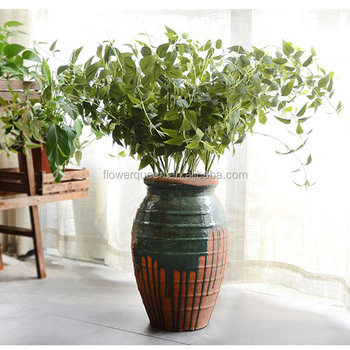 11 Braches Flower Artificial Plant Leaves Silk Acacia Vine Leaf Foliage Bulk Faux