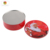 large Round metal storage cake Tin Boxe with embossed lid