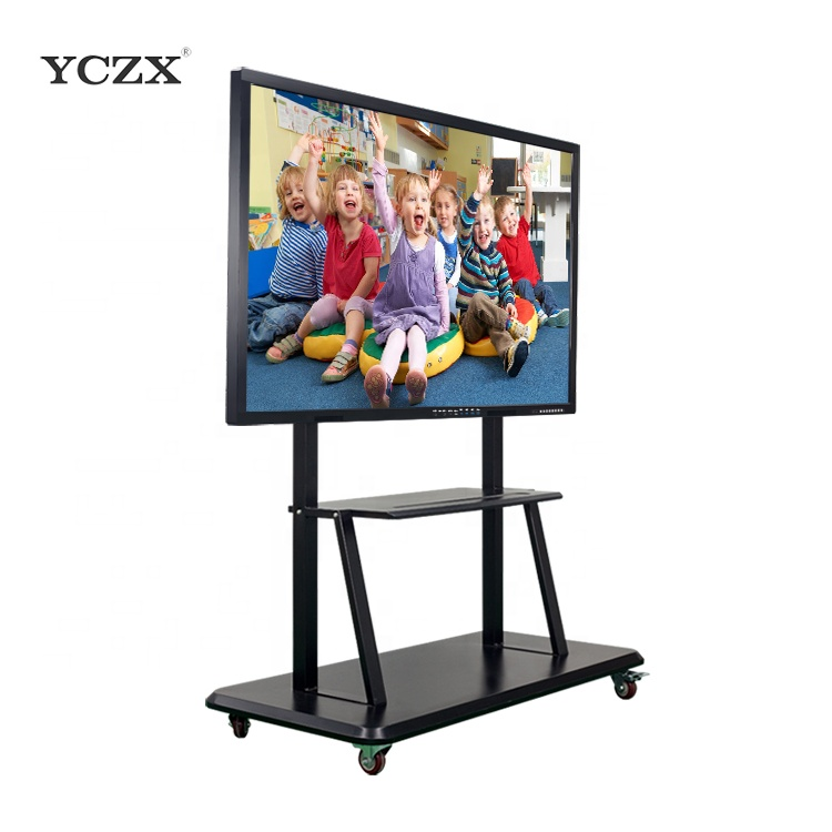 75 YCZX draagbare interactieve touch display screen monitor interactieve whiteboard wiht pc/smart tv