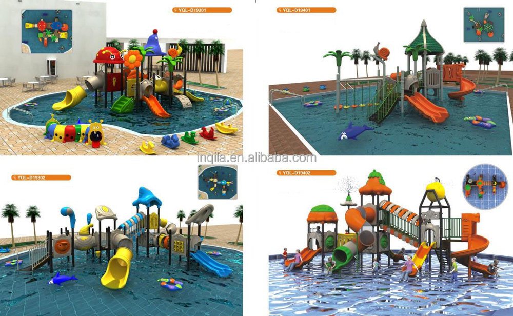 Outdoor playground adult water pool slide tubes