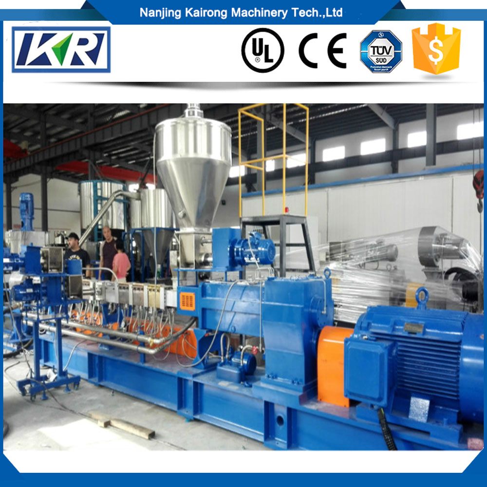 Twin screw plastic compounding extruder/LDPE LLDPE plastic film extruder recycling line