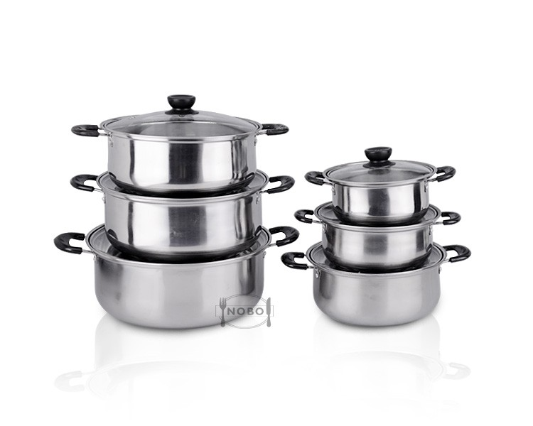 Cheap wholesale induction 12pcs stainless steel cookware set