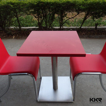 Restaurant Tables And ChairsCheap Price Red Color Square Dining - Restaurant table price