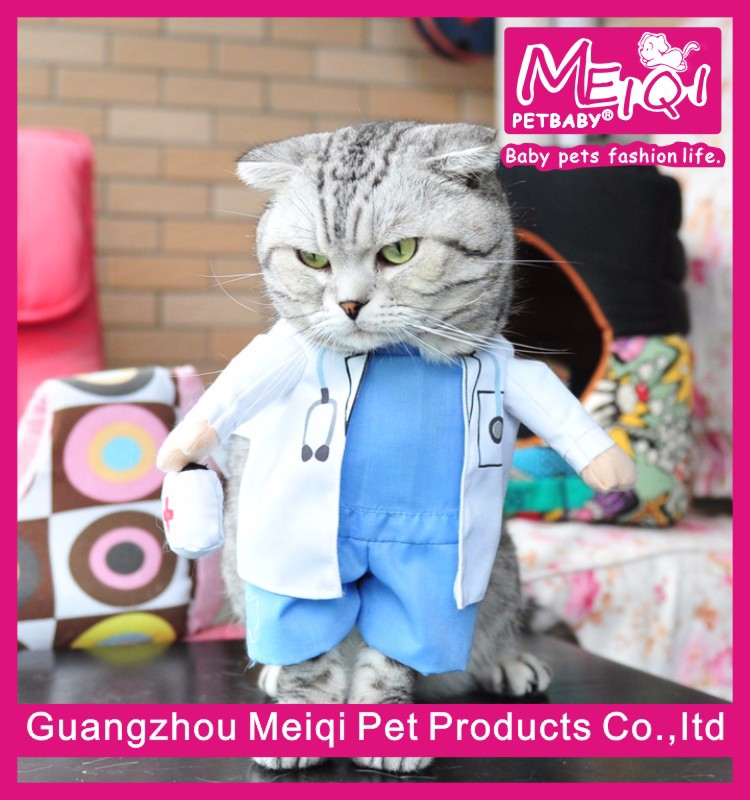 pet cosplay costumes funny doctor outfit for cat and dog