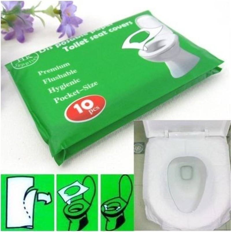 European toilet seat cover paper disposable camping hygienic public travel women