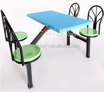 Fiberglass School Canteen Table And Chair Dining Hall Furniture