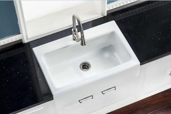 Apron Front Skirt Single Bowl Enameled Cast Iron Kitchen Sink - Buy Single  Bowl Kitchen Sink With Drainboard,Apron Front Kitchen Sink,Cast Iron Sink  ...
