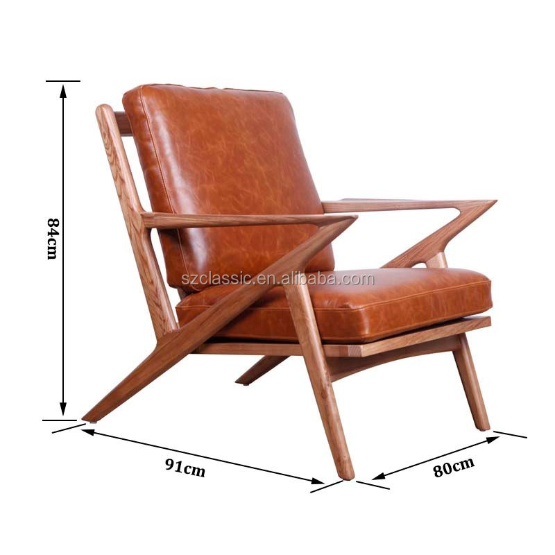 Mid Century Wooden Leather Z Lounge Chair  sc 1 st  Alibaba & Mid Century Wooden Leather Z Lounge Chair - Buy Mid Century ...