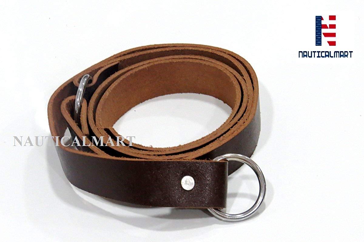 NauticalMart Free Style Black Natural Leather Belt For Men