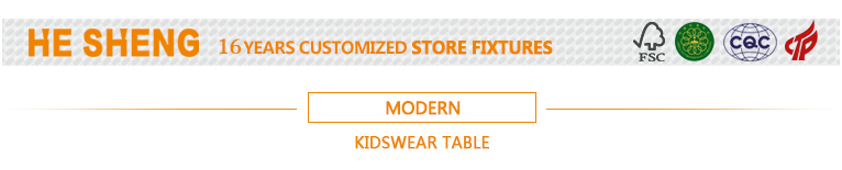 Display table childrenswear store fixtures. modern style HC03L01