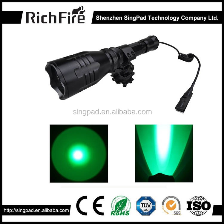 Tactical hunting flashlight torch light green led tactical hunting flashlights