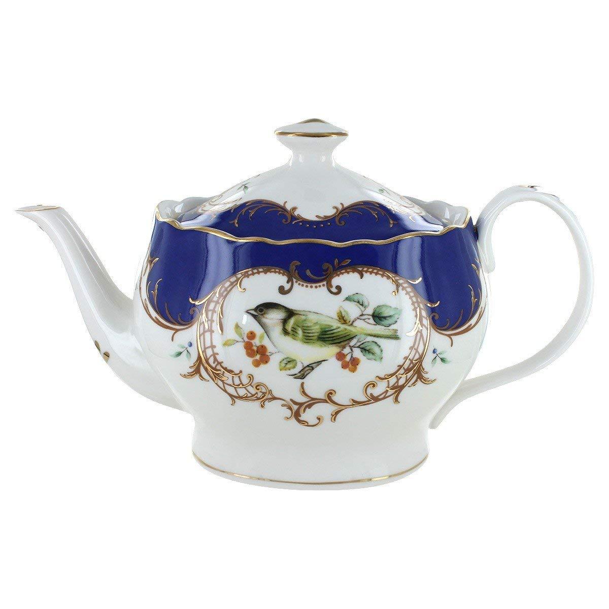 Royal Blue Bird Porcelain - 5 Cup Teapot