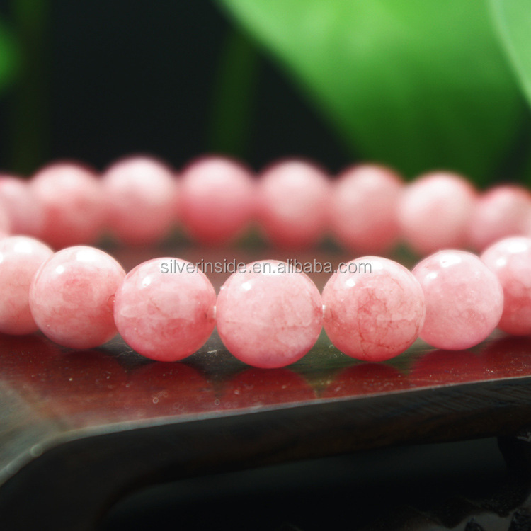 "Gem Semi Precious Gemstone 8mm Round Beads Stretch Bracelet 7"" Unisex"