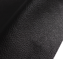 Black genuine cow leather fabric