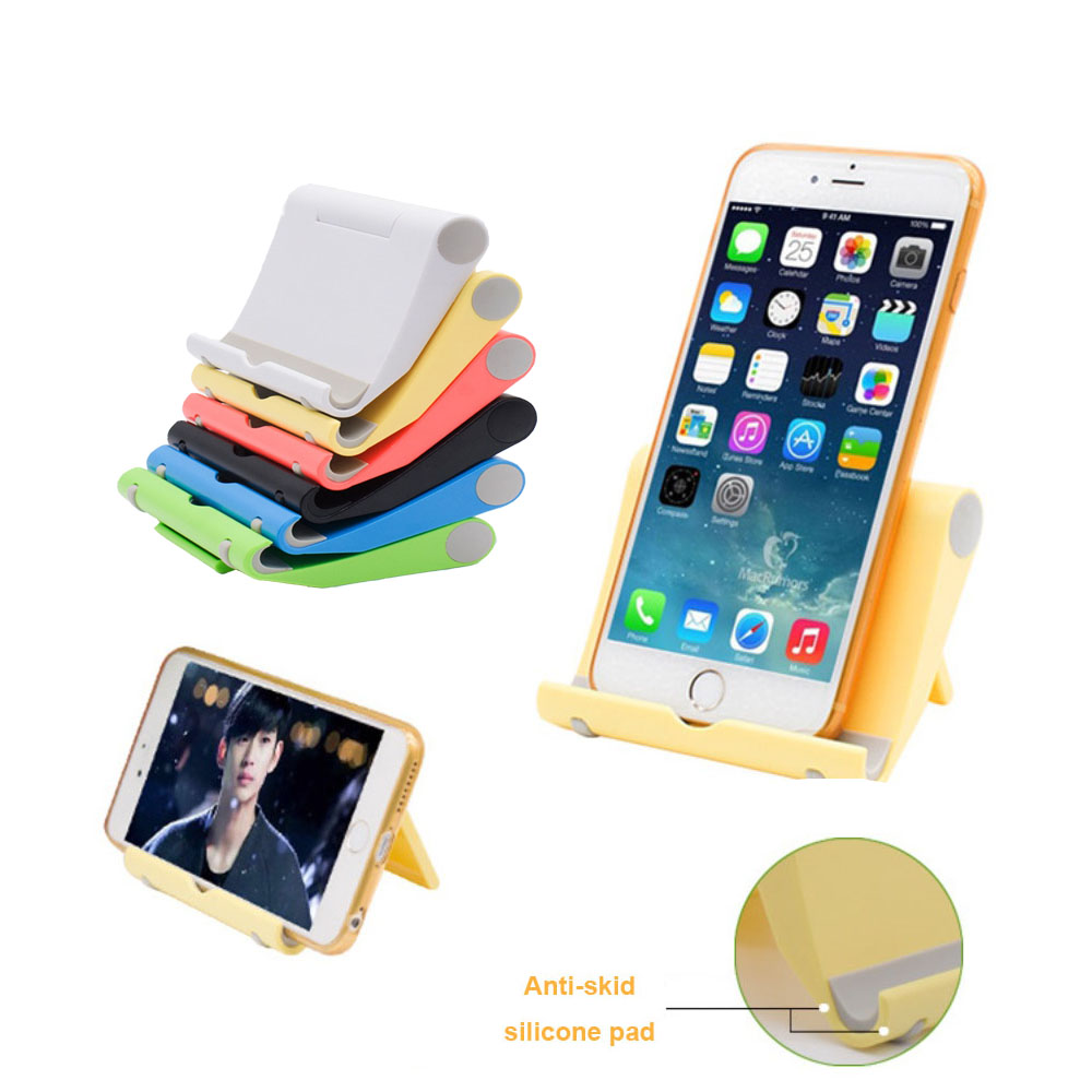 universal foldable holder adjustable desktop mini phone tablet stand for iphone 6 samsung galaxy. Black Bedroom Furniture Sets. Home Design Ideas