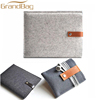 Eco-friendly Wool or Polyester Felt Mobile Phone cover Bag Sleeve pouch for iphone with card case